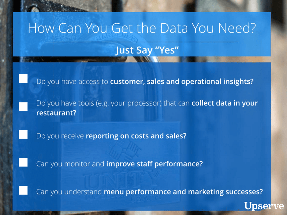 How can you get the data you need?