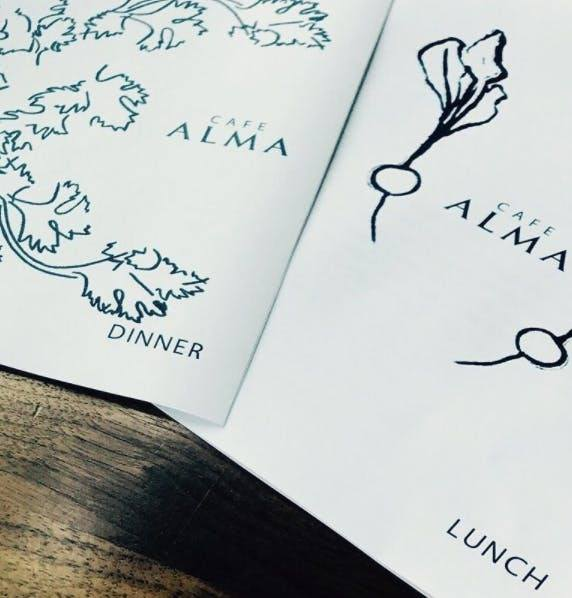 alma restaurant menu