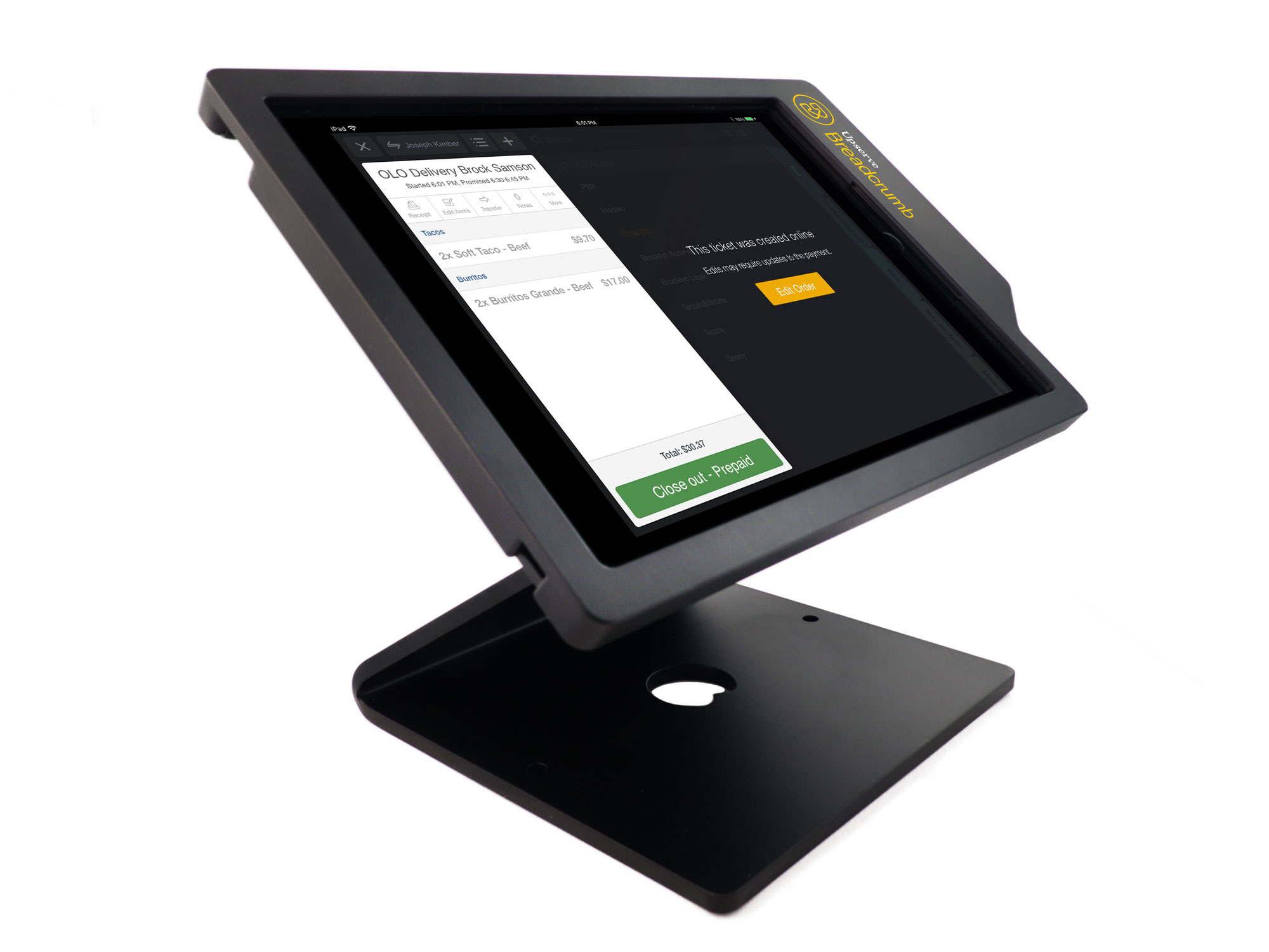 Receive online orders directly through your POS system, making deliveries a breeze