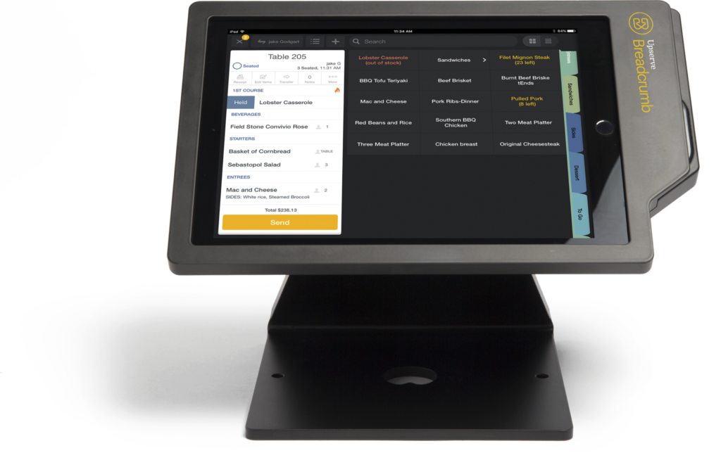Full-service restaurant POS system called Breadcrumb POS by Upserve
