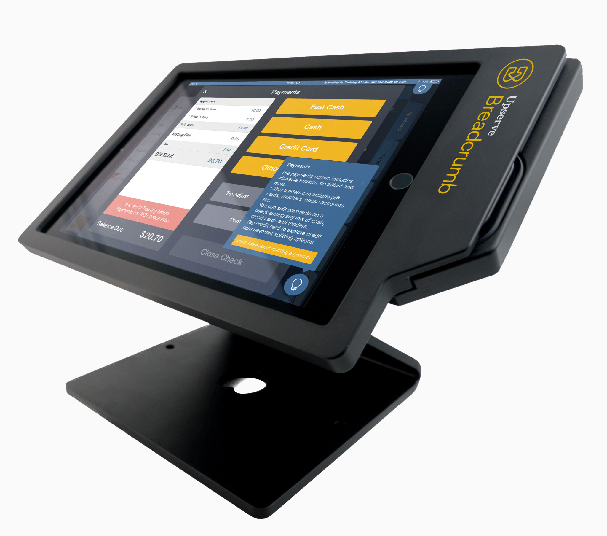 It's easy to set up and train on Upserve POS