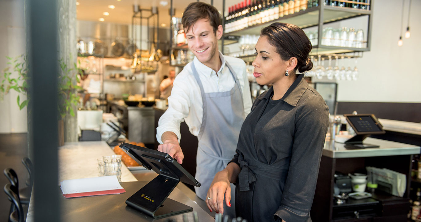 staff using a restaurant pos system