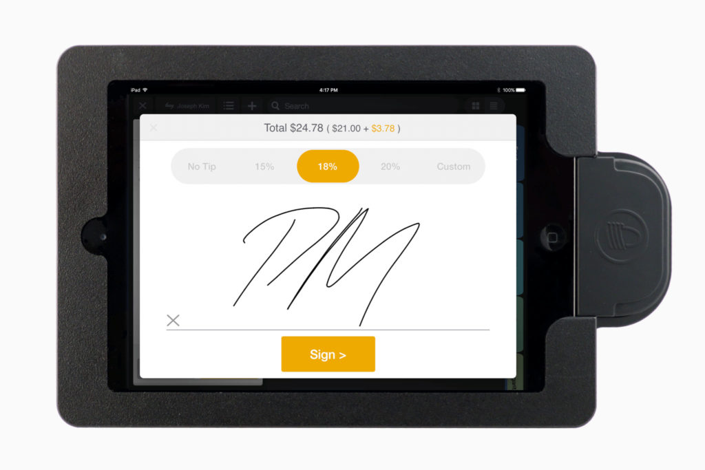 Collect Payment via Signature on Screen