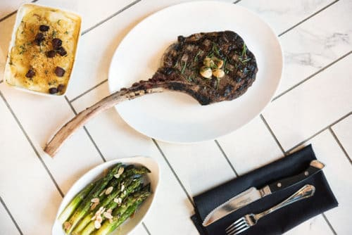 28-day dry-aged Tomahawk at Cowford Steakhouse