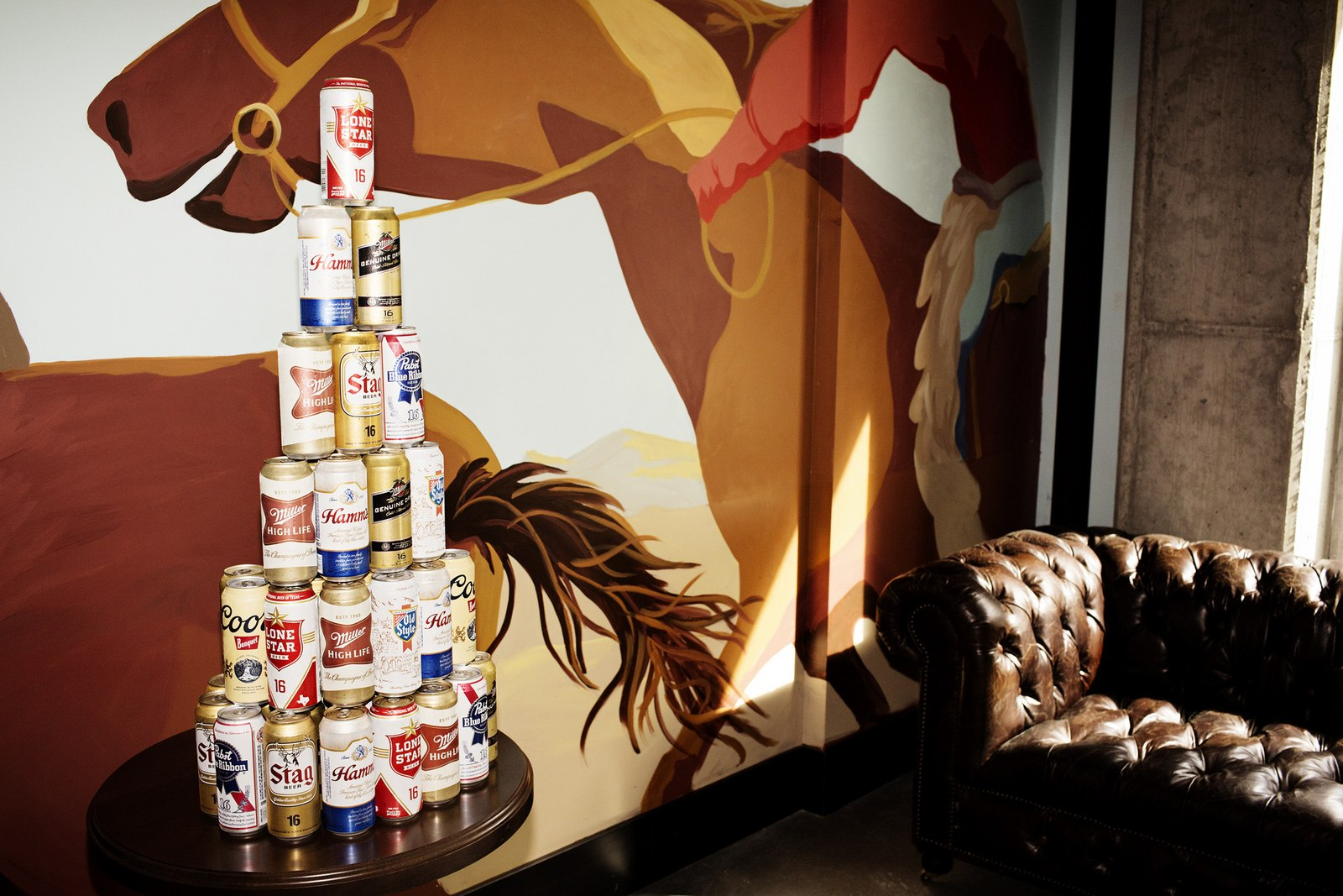 Beer cans and cool background for dalton and wade restaurant