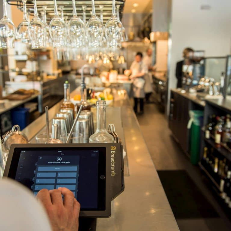 Upserve POS inside of a restaurant