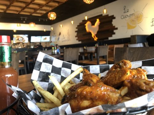 Buffalo chicken wings at the fast-casual Street's Fine Chicken
