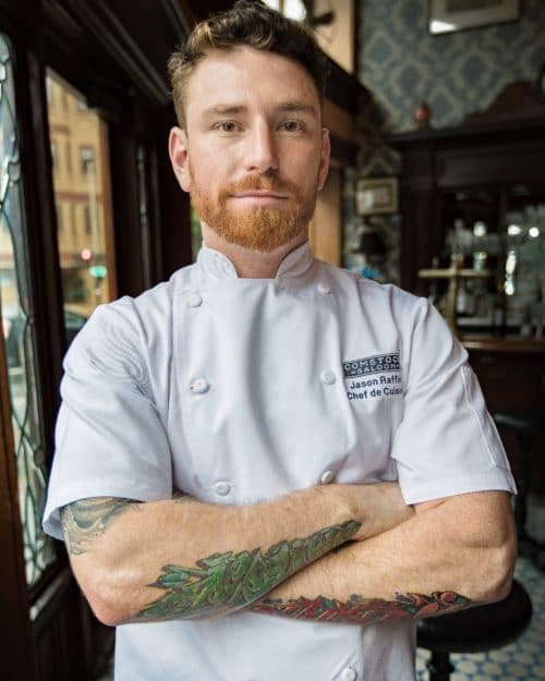 Comstock Chef Jason Raffin. Photo Credit: Lindsey Rice