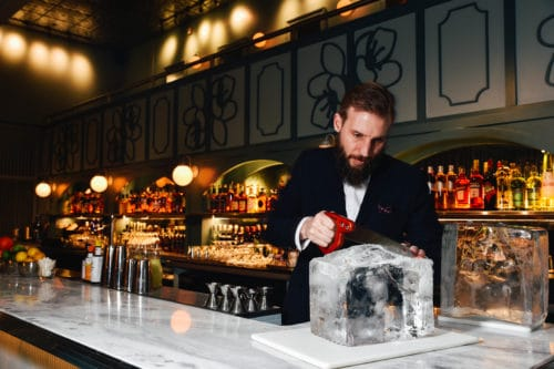 David Strauss of Morris American Bar Sawing Ice