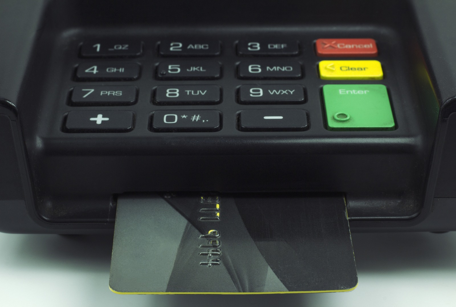 EMV card in reader