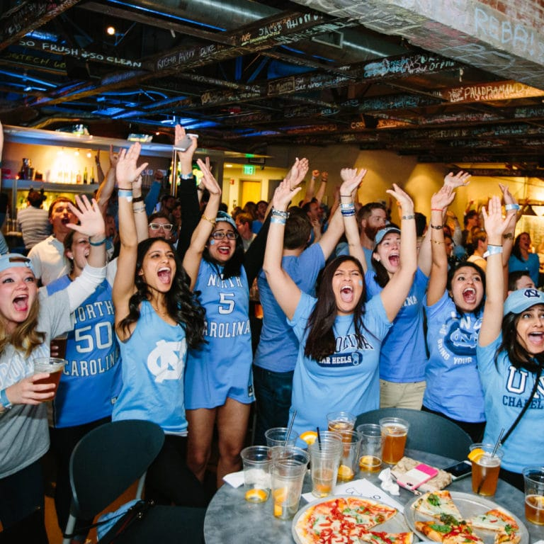 2017 NCAA championship game viewing party at Top of the Hill, courtesy of Top of the Hill