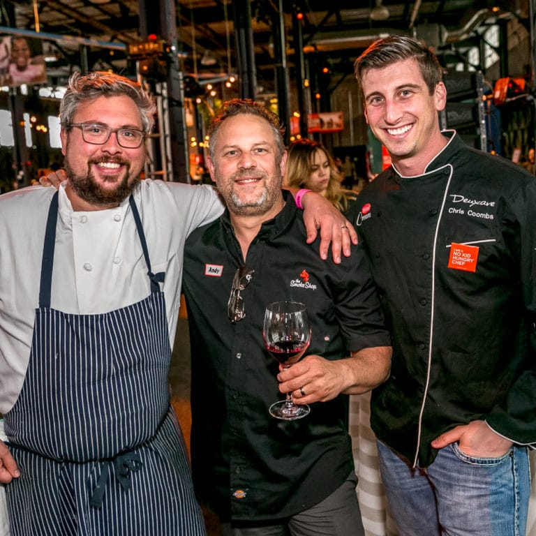 Chefs Colin Lynch, Andy Husbands and Chris Coombs at Taste of the Nation 2017