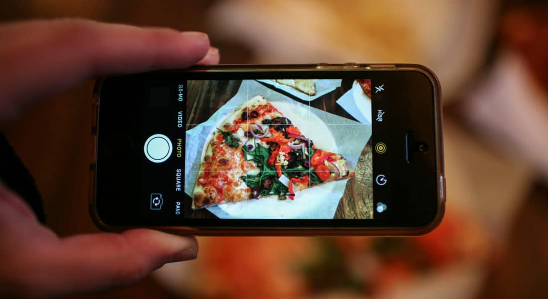pizza phone instagram