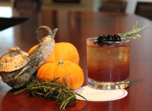 Earl Grey and Rosemary bourbon