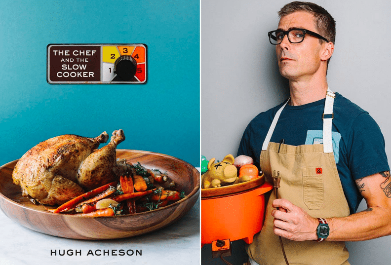 Chef Hugh Acheson and new cookbook cover