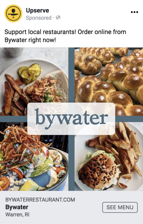 bywater restaurant facebook ad