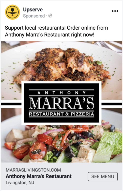 restaurant facebook ad