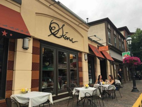 Siena Restaurant Outdoor Tables