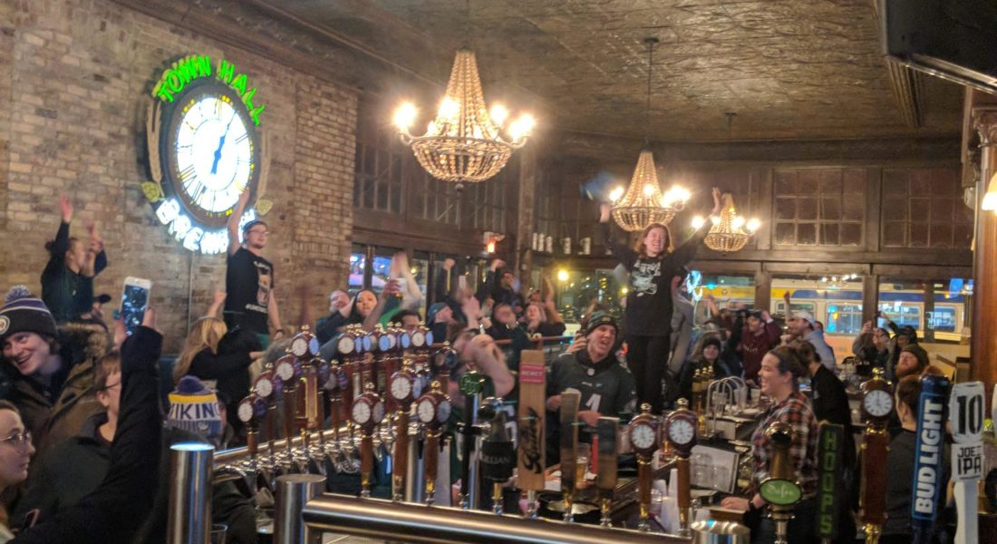 Town Hall Brewery's Eagles Watch Party