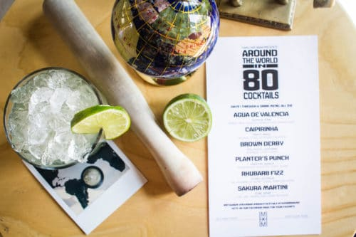 Trick Pony's Around the World in 80 Cocktails concept featured a Caipirinha cocktail