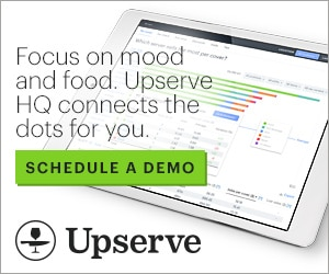 Focus on mood and food. Upserve HQ connects the dots for you.