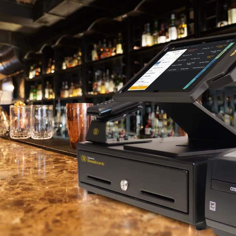 Breadcrumb's restaurant point of sale at a bar