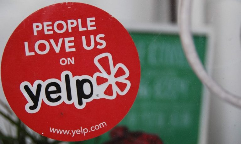 Yelp restaurant sticker