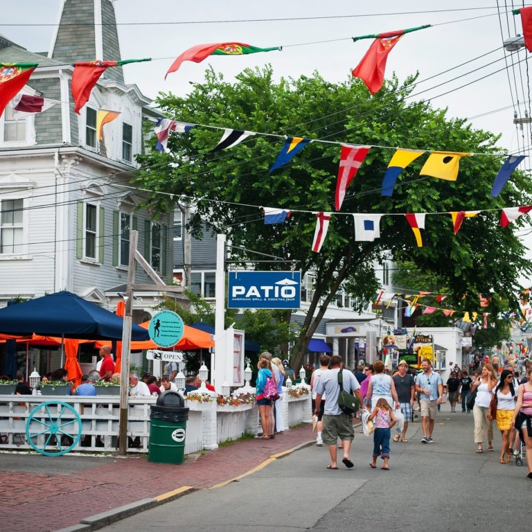 cape cod restaurant street during summer