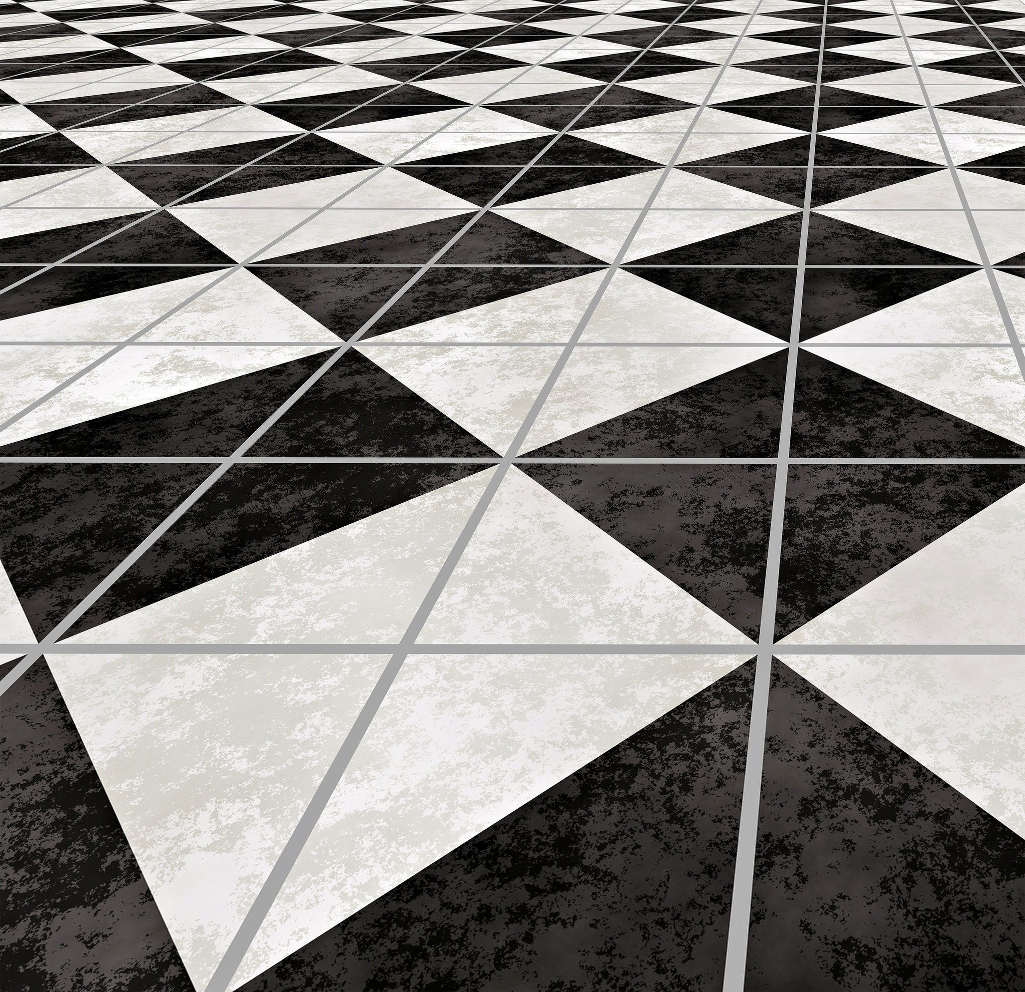 large image of checkered marble floor going off into the distance