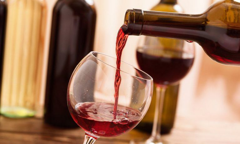 red wine being served at a restaurant