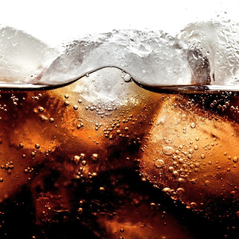 Soda Cola Cold Drink Bubble Ice Drink Glass