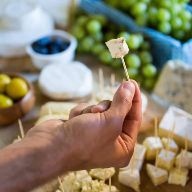 Restaurant giving free samples of cheese to increase sales