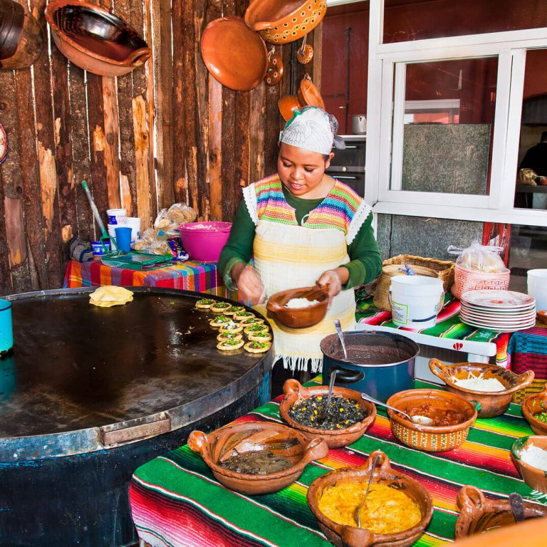 mexican woman cooking