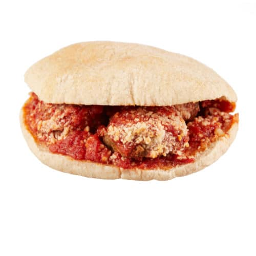 Impossible Meatball Sandwich at Clover Food Labs