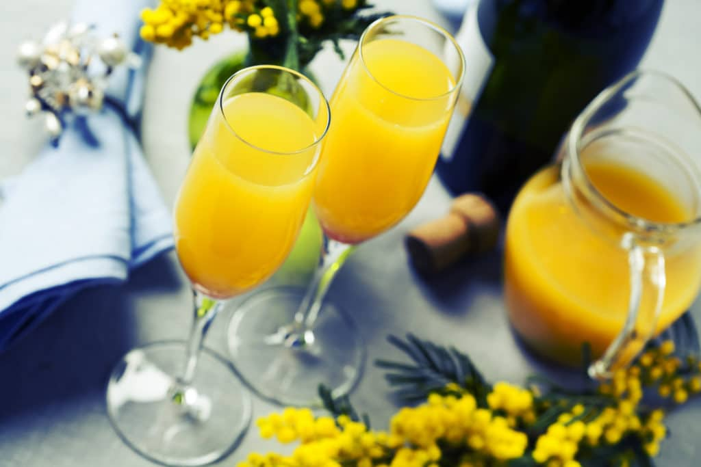 mimosa cocktails