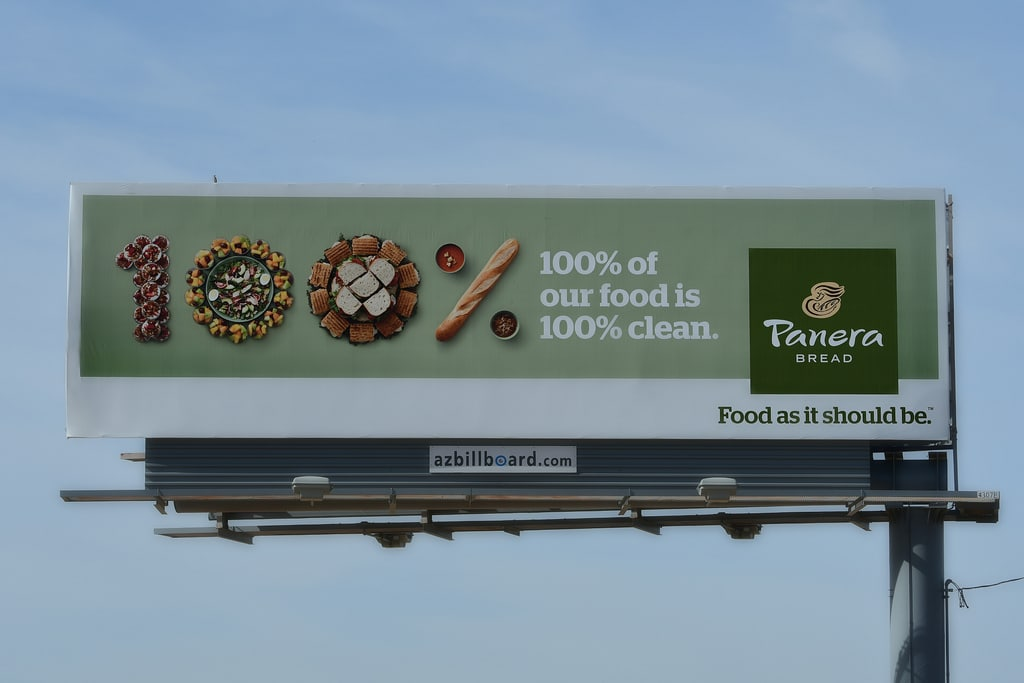 panera restaurant ad billboard