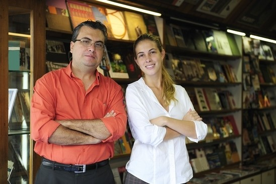 Small business owners of a local bookstore pursue cheap marketing ideas