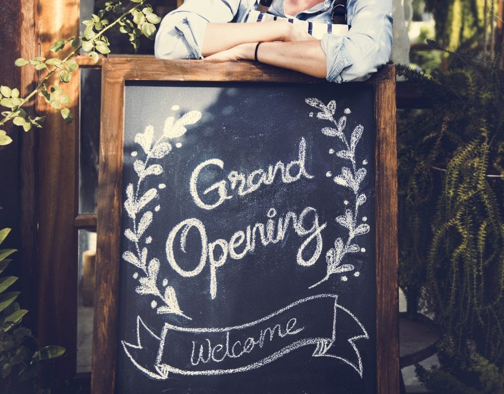 Welcome to grand opening of our restaurant