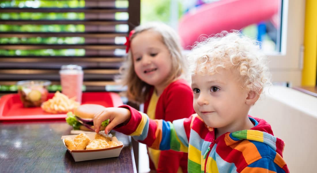restaurant kids menu with healthy options