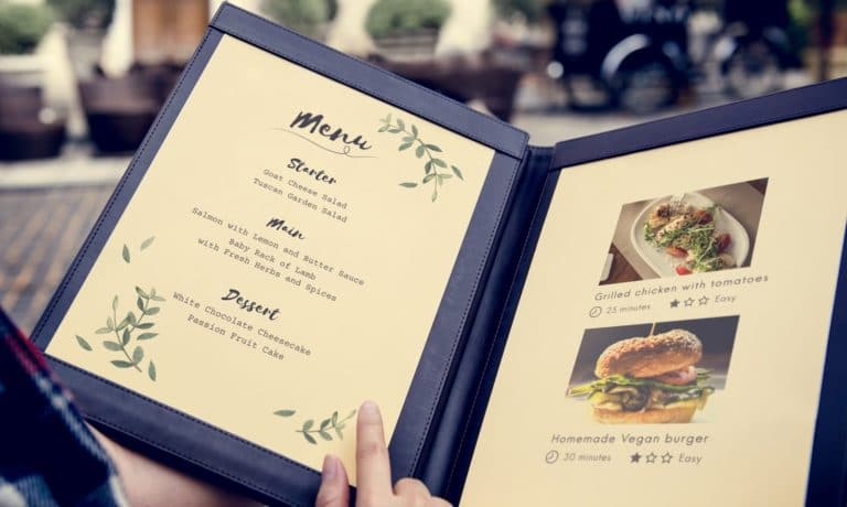 restaurant menu design small restaurants