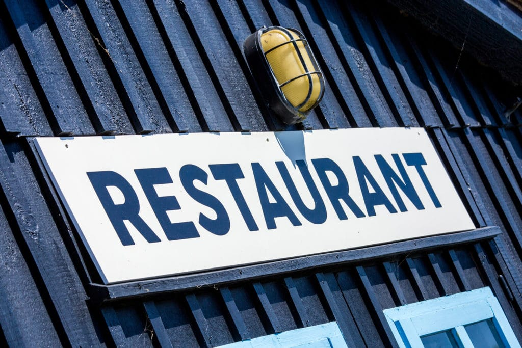 restaurant signs outside
