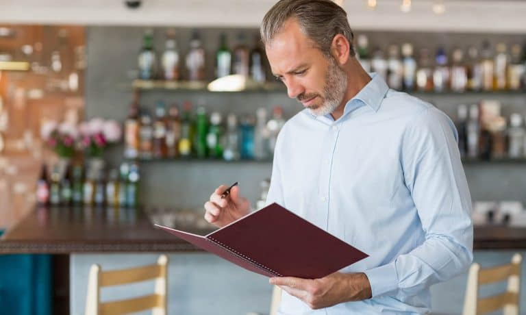 Restaurant owner writing name options